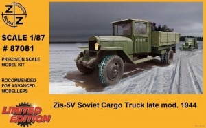 ZIS-5V H0-1:87 model 1944 roku do sklejania, Z&Z 87081