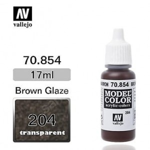Farba Vallejo 70.854 Model Color 204 Brown Glaze Transparent