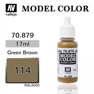 Farba Vallejo 70.879 Model Color 114 Green Brown