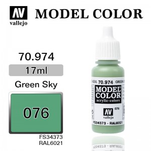 Farba Vallejo 70.974 Model Color 76 Green Sky