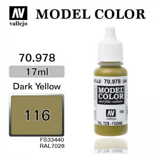 Farba Vallejo 70.978 Model Color 116 Dark Yellow