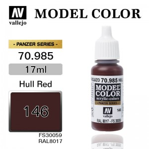 Farba Vallejo 70.985 Model Color 146 Hull Red